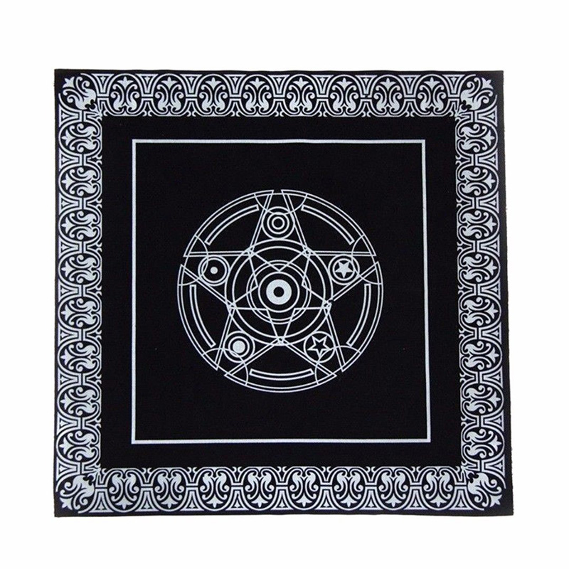 New Arrival Cards Tablecloth Square Altar Tarot Divination Home Decor 49cmx49cm Cover Tapestry Black Brand For Home Diy Decor in Tablecloths from Home Garden