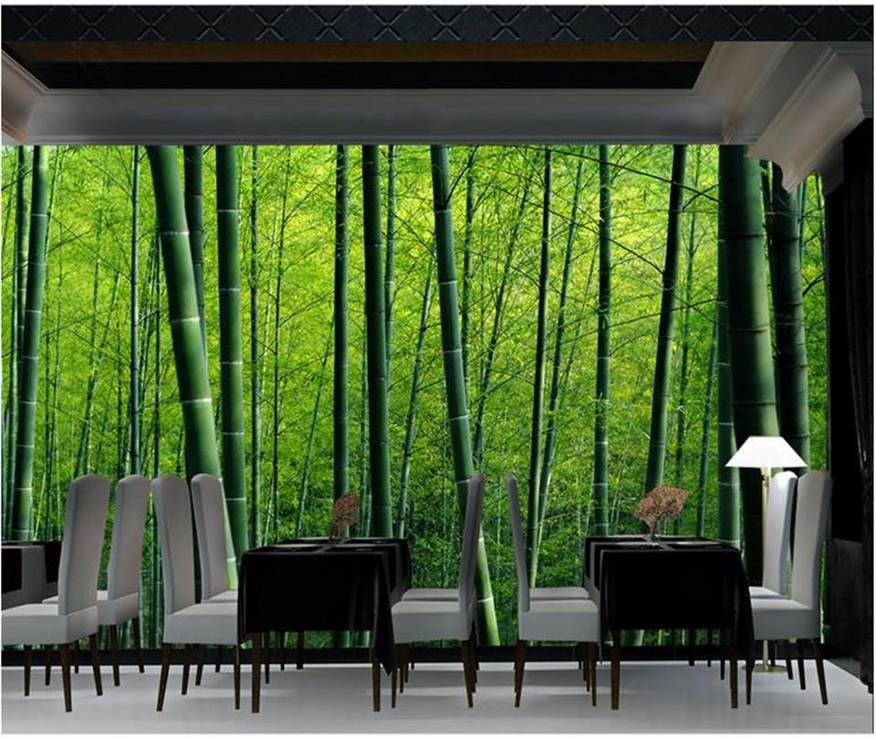 Photo Wallpaper Custom Living Room 3d Mural Huge Bamboo Forest 3d Painting  Sofa TV Background Wall