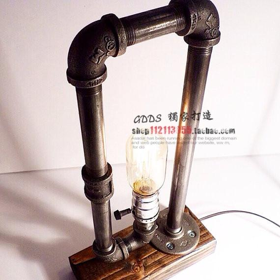vintage lamp shade adjustable table lamp lights retro brief