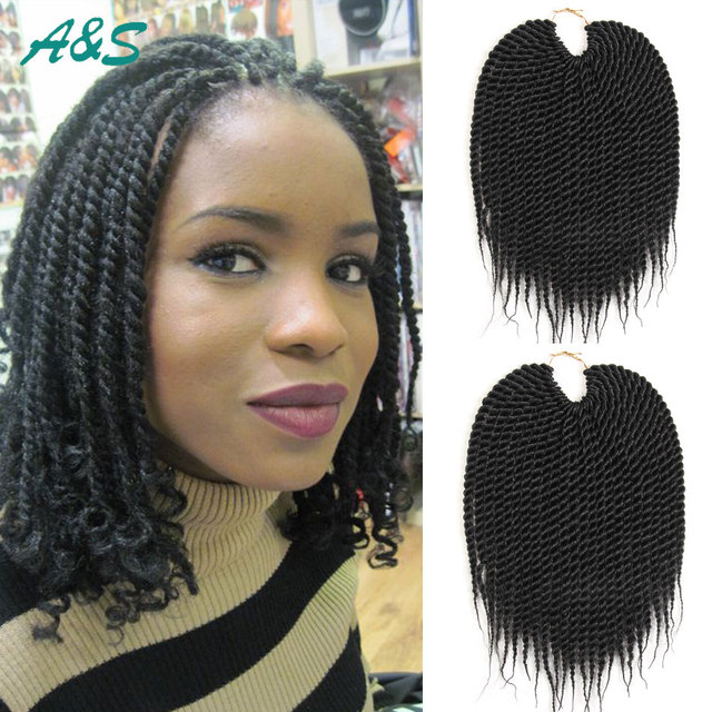 Free Gifts Best Quality Short Baby Senegalese Twist Hair Extension Crochet Braids Braid 10