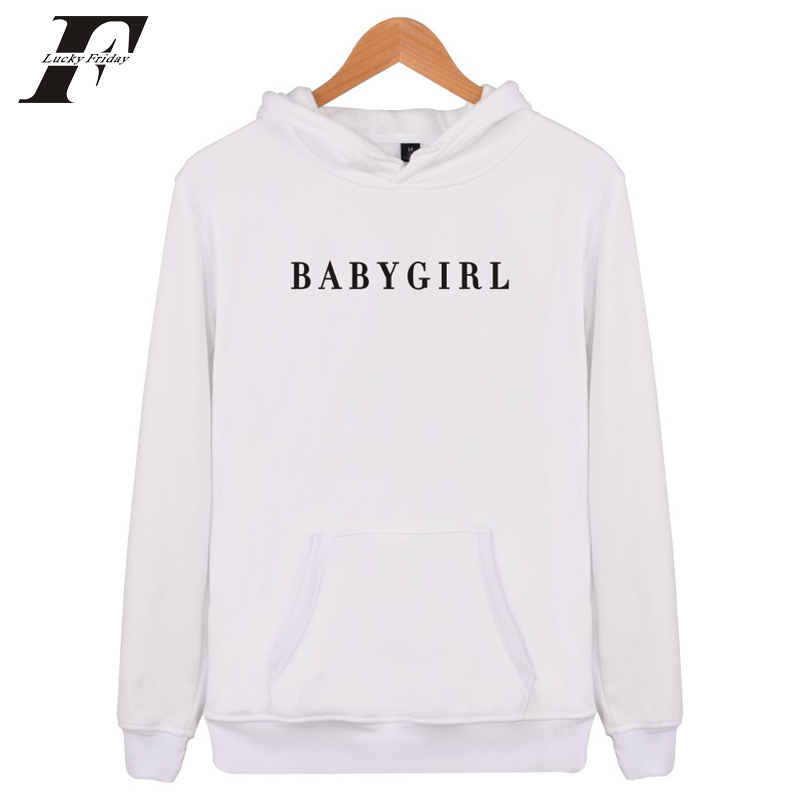 LUCKYFRIDAYF2017 BABYGIRL Harajuku Sweatshirt And Hoodies survetement femme Women/Men Br ...