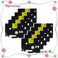 10 갑 열 수축 튜브 HSe-641 18 미리메터 테이프 카세트-블랙 노란색 호환 프린터 마킹