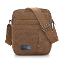 Man Messenger Bag 100% Cotton Canvas Crossbody for Solid Contracted joker Shoulder Preppy Style portable khaki flap