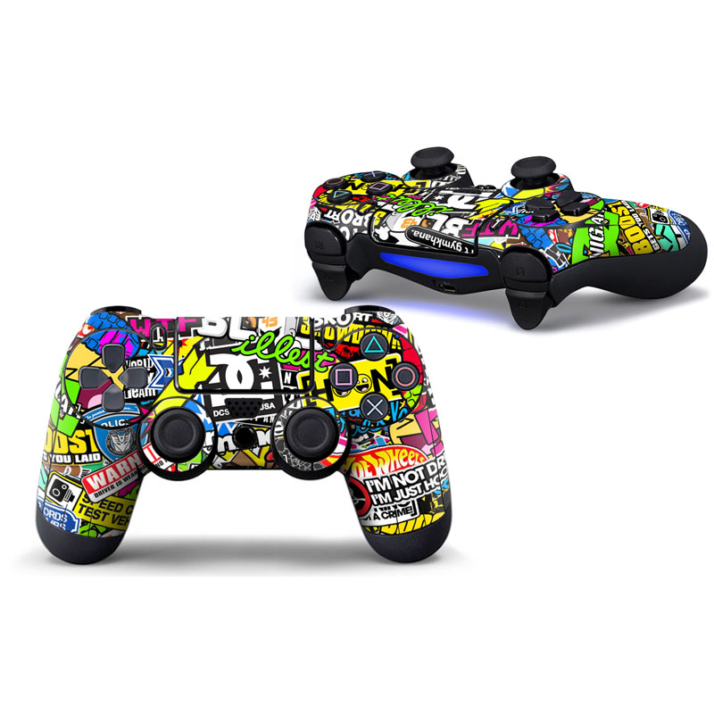 Graffiti Vinyl Skins for PS4 Controller Decal Stickers for Playstation4 Gamepad Cover For Sony PS4 Control Free Shipping