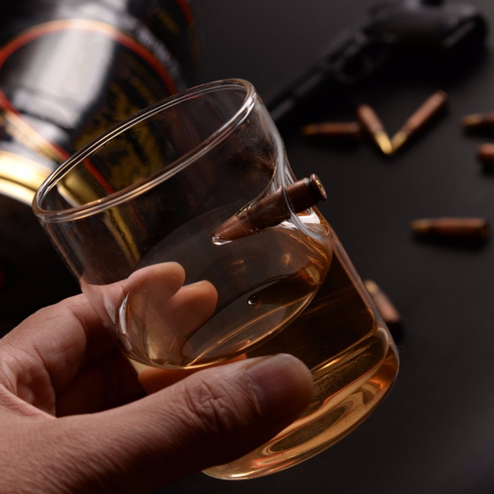 Bullet Whisky Crystal Glass