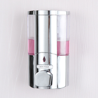 Popular 300ml Wall Mount Soap Sanitizer Bathroom Washroom Shower Shampoo Dispenser