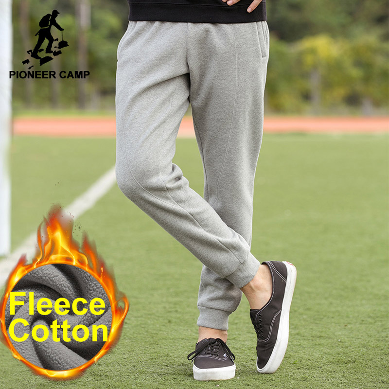 Pioneer Camp 2017 new Fashion joggers mens thicken fleece autumn winter brand clothing quality casual pants