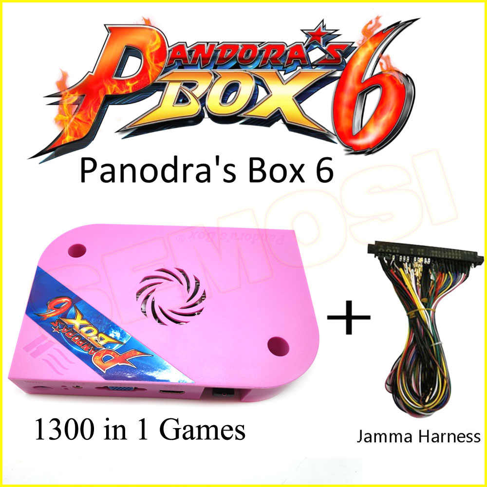 Pandoras box 6 1300 in 1/pandora's box 5 960 in 1 jamma 아케이드 버전 게임 보드 jamma harness vga hdmi 출력