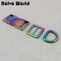 5 20 50pcs 65X25mm 1 inch Rainbow finish Side Release Buckle For Dog Pets Dollar Accessories Wholesale