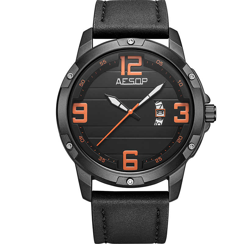 イソップスポーツ腕時計 2019 高級トップブランドメンズ腕時計メンズクォーツ時計ミリタリー防水レザーストラップ腕時計レロジオ Masculino