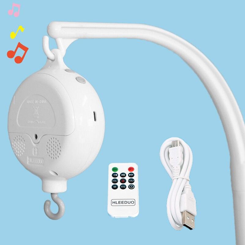 Детские погремушки игрушки для детей возраста от 0 до 12 месяцев, белый цвет вращающийся мобиль на кроватку новорожденных музыкальная шкатул...