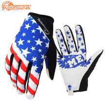 American Flag Breathable Lightweight MTB Motocross font b Gloves b font Bike Cycling