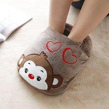 Big Feet Warm Slippers 1Pc/Lot Electric Heat Slipper Popular Warm Your Feet Cartoon Winter Foot Warmer Shoes