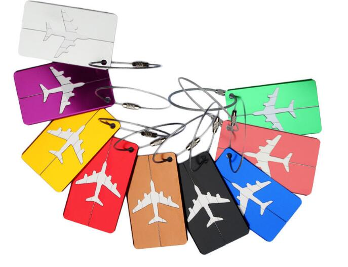 Mini Aluminium Alloy Luggage Tags Travel Accessories Baggage Name Tags Suitcase Address Label Holder 2PCS/SET