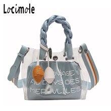 Locimole Women Summer Beach Bag PVC Clear Transparent Purse Knitting Small  Shoulder Bags New Designer Jelly 155b7d5b4a428
