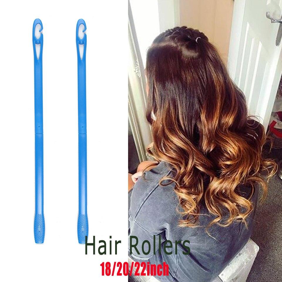 Купить с кэшбэком 40pcs Hair curlers Rollers 45cm Shape Rolls Styling Curlaer Tools bigudies para pelo DIY At Home Natural Way  hair curlers
