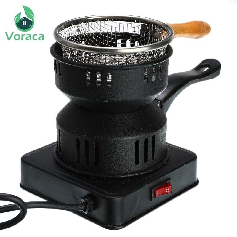 New Black Shisha Hookah Carvão Aquecedor Fogão Placa Queimador de Carvão Quente Tubos do Queimador de Carvão Acessórios 220 V/Hz 50 600W EU Plugue do Cabo