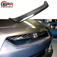 Car styling For Nissan R35 GTR Carbon Fiber OEM Front Grille Glossy Finish Bumper Grill Mesh Trim Tuning Body Kit Accessories