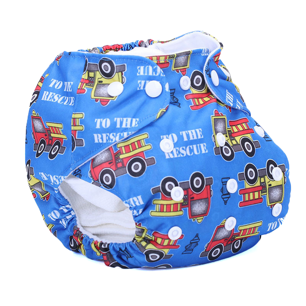 One Size Waterproof Adjustable Swim Diaper Pool Pant 10-40lbs Swim Diapers Baby Reusable Washable Swimsuit Cover Training Unisex