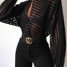 2019 Women Elegant Basic Black Casual Shirt Female Stylish O