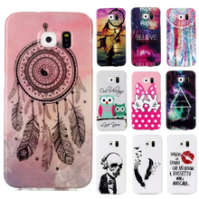 Coque For Samsung Galaxy S6 Case G9250 Soft Cartoon Pattern Owl Skull Wings TPU Silicone Cute Cover For Sumsung Galaxy S6 Cases(China)
