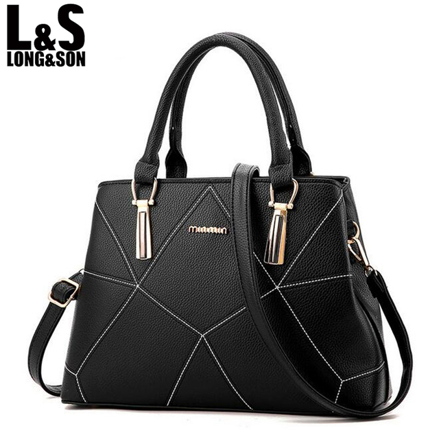 LONG SON Women s Leather Bags Handbags Women Famous Brands Women Bags High  Quality Tote Handbag Shoulder Bag For Ladies WB090 1169881d1f95e
