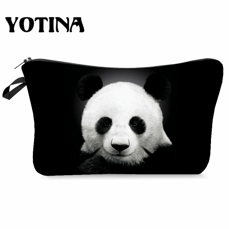 Yotina Makeup Bag Women Cosmetic Bag With Multicolor Pattern 3D Printing Neceser  Toiletry Bag For Travel Make Up Bag
