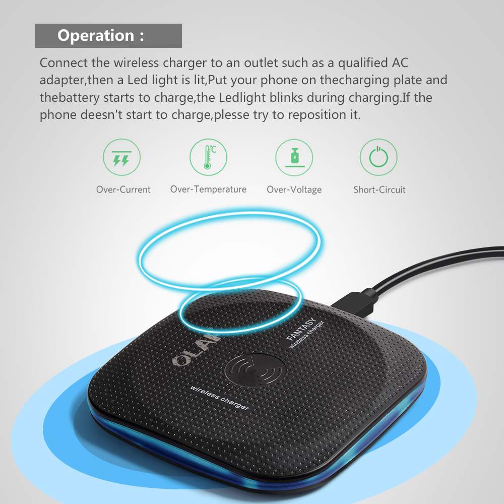Marjay 10W Qi Wireless Charger for iPhone X88 Plus Fast Wireless Charging pad for Samsung S9S9+ S8 Note 9 9+ 8 Xiaomi Huawei (3)