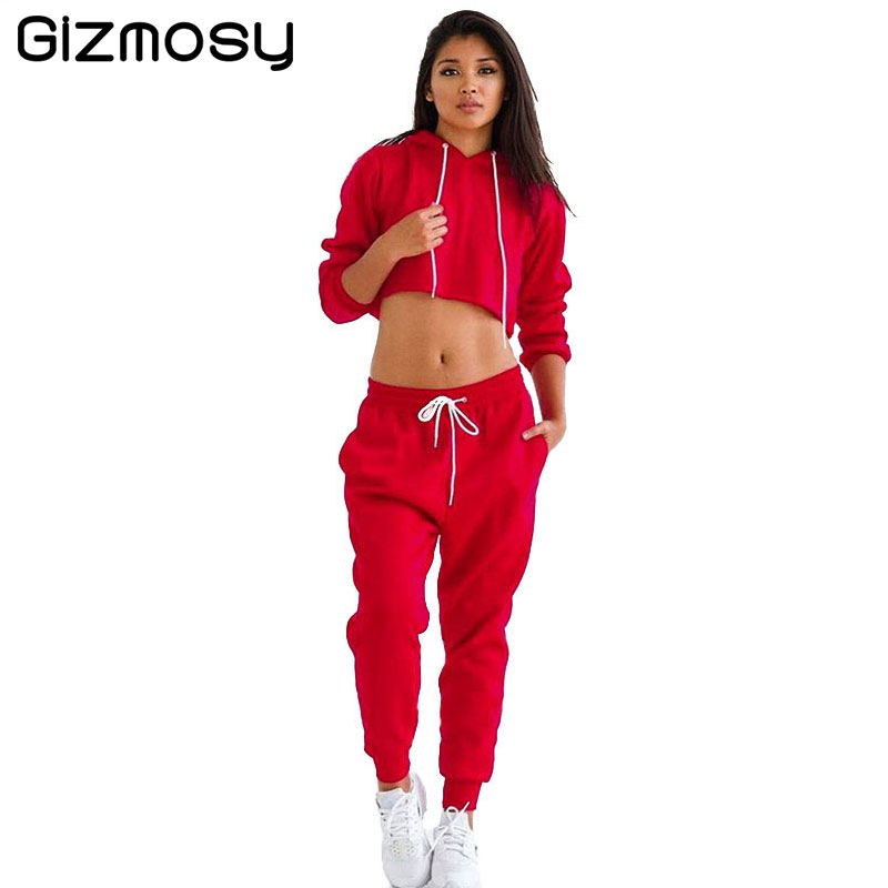 2017 Women Two Piece Set Female Spring Autumn Tracksuit Velvet Hoodies Top&Pants Ladies Long Sleeve Femme Sporting Suits SY1105