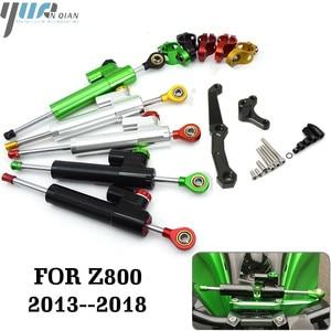 Image 1 - Motorcycle Accessories Adjustable Dampe Linear Reversed Steering Damper with bracket For Kawasaki Z800 z 800 2013 2014 2015 2016