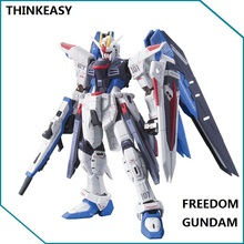Japaness Bandai Original Gundam HG 1/144 Freedom Destroy SEED Model ZGMF-X10A Justice Armor Unchained Mobile Suit Kids Toys
