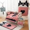Envío gratis nuevo llegado Ins Hot cuna sábanas 9 unids sistema del lecho del bebé incluir funda de almohada + hoja de cama funda nórdica sin relleno