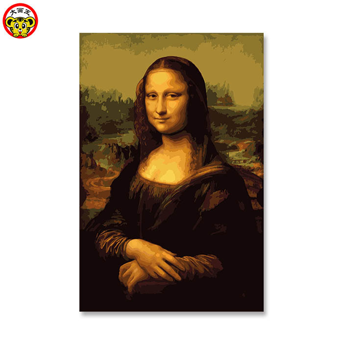 painting by numbers art paint by number Da Vinci Mona Lisa beauty Digital Diy oil wall decor on canvas oil paint coloring by nu