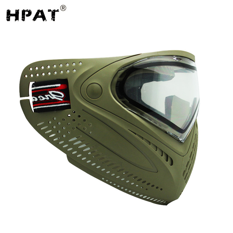 SPUNKY Tactical Airsoft Mask Anti Fog Paintball Mask with Dye I4 Thermal Lens
