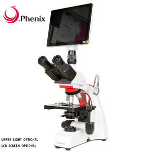 Phenix Professional Digital Microscope 40X-1600X Trinocular Biological Microscope 9.7inch LCD Screen 5MP Camera for Students
