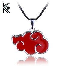 free shipping Japanese Anime Cosplay Naruto Akatsuki organization red cloud sign metal pendant necklace