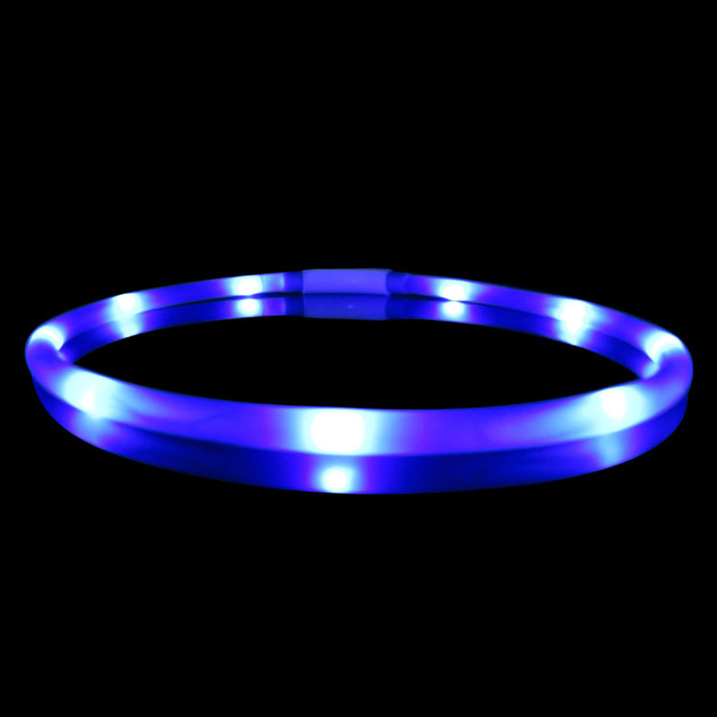 70cm Silicone Adjustable Lighting Glow Dogs Leash Night Safety Harness Collars USB LED font b Pet