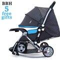 BBH Carrinho De Bebê Cadeira De Balanço 5 Brindes Folding Carriage Newborn Infant Sentar e Deitar 4 Rodas Carrinho de Bebé Carrinho de Bebê Portátil