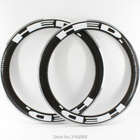 2pcs New 700C 60mm Clincher Rims Road Bicycle 3K UD 12K Carbon Fibre Bike Wheels Rim