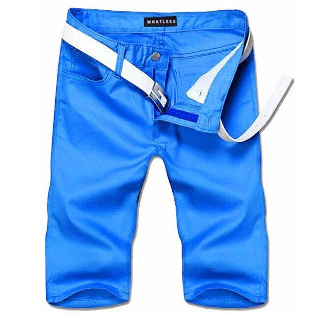 2016 мода лето новых людей свободного покроя сплошной цвет мужские брюки прямые простой хлопка с коротким для мужчин платье PK33
