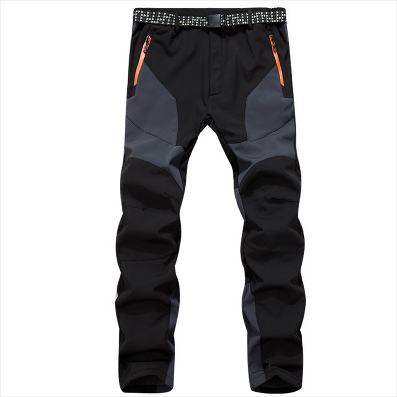 2016Lovers Fall Winter Outdoor Trousers Men Women Thermal Waterproof Windproof Soft Shell Climbers Hiking Camping Tactical Pants