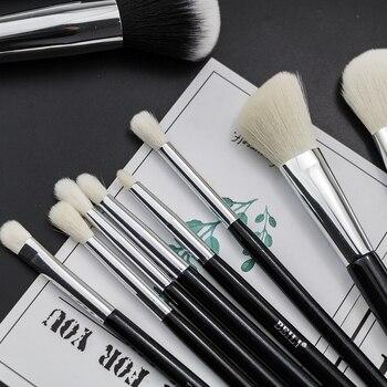 BEILI Black Complete Professional Foundation Powder Concealer Contour Natural goat hair Eyes Blending 30 pieces Makeup Brush set 4