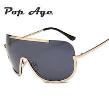 Pop Age New Polarized Oversized Sunglasses Women Men Brand Designer Ocean Pink Blue Goggle Sun glasses Driving Windproof Lentes