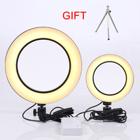 LED Dimmable Photography Light 16cm/25cm Photography Studio Camera Ring Light For Mobile Phone SLR Tripod Equipment Live Photo