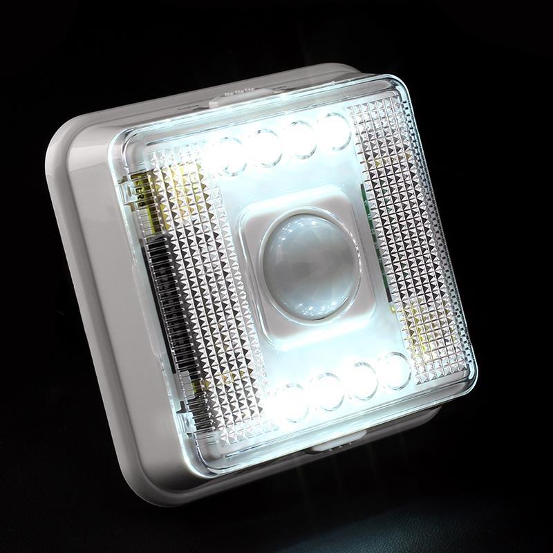 Motion capteur de lumière 8 LED Lampe Capteur PIR Auto Détecteur de Mouvement LED éclairage Livraison gratuite HA10568