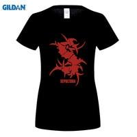 GILDAN SEPULTURA Tribal Logo Metal Punk Rock Women S T Shirt T Shirt For Women Short
