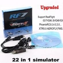 Модернизированный 22 в 1 симулятор 22в1 RC USB кабель для симулятора полета поддержка Realflight G7 Phoenix 5,0 AEROFLY FMS серия