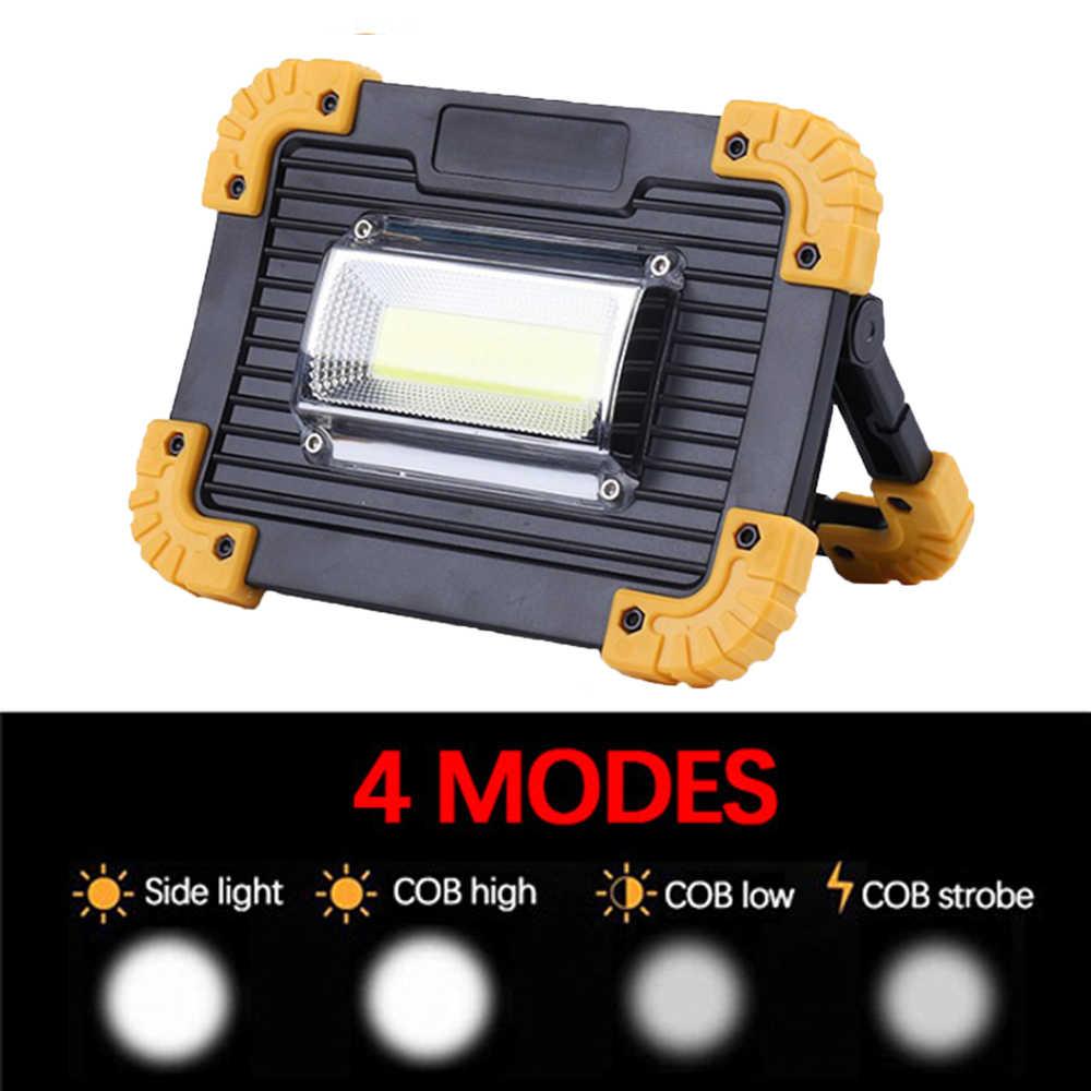 COB Lampu Kerja LED Portable Lantern Tahan Air 4-Mode Emergency Lampu Sorot Isi Ulang Lampu Sorot untuk Camping Lampu