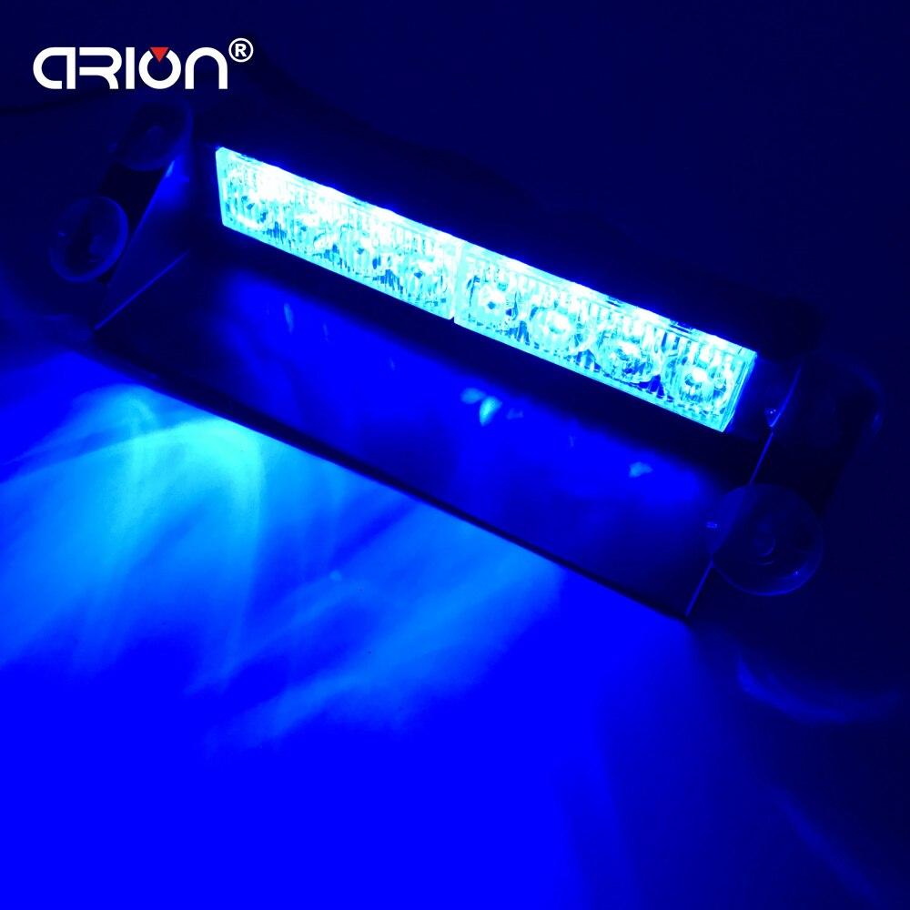 CRION Blue Red Yellow 8 LED High Power Strobe Flash Warning EMS Police Car Light Flashing Firemen Fog Lights 8LED