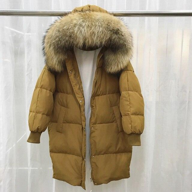 """Зимние Для женщин Мужские парки Пуховое пальто енота Мех животных с капюшоном рукав """"летучая мышь"""" леди теплая верхняя одежда пальто плюс Размеры 5XL 6XL 7XL LF4275"""